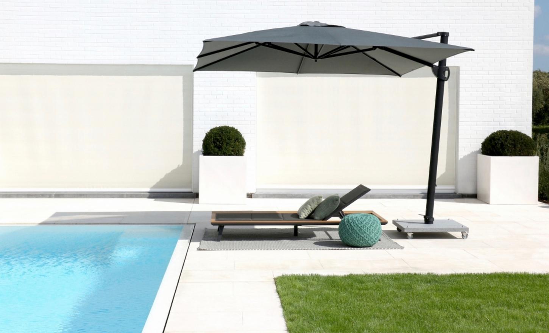 Alle parasols van Jardinico zijn roestvrij en maken gebruik van handige openingssystemen.