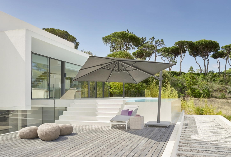 De karaktervolle parasols van Jardinico combineren feeling voor esthetiek en functionaliteit.